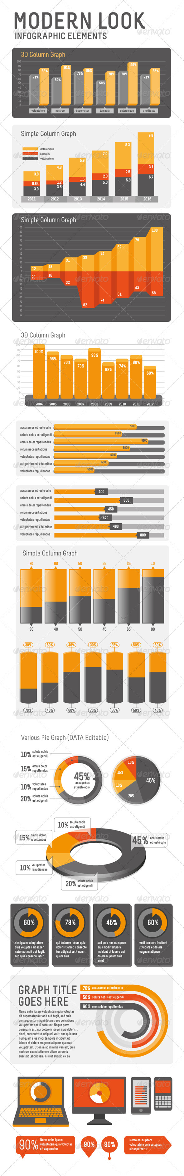 GraphicRiver Modern look Infographic Elements 2785022