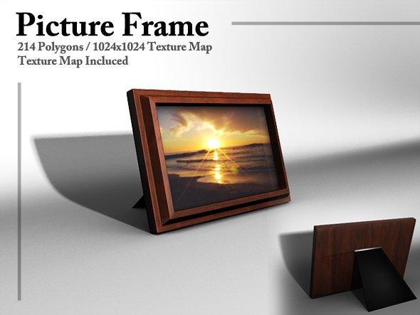 3DOcean Wooden Picture Frame 2786257