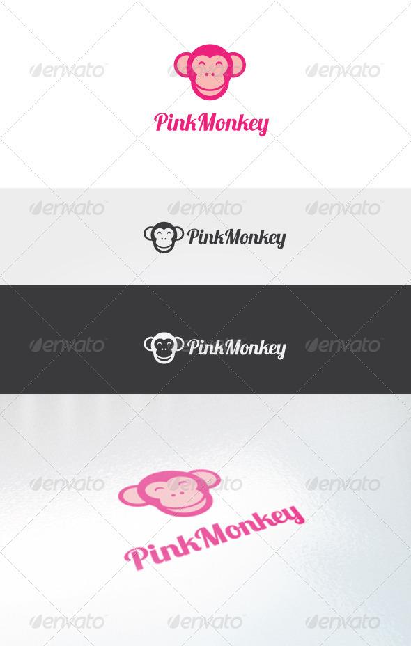 Pink Monkey Logo Template - Humans Logo Templates