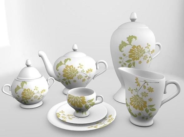 3DOcean Tea Servis Set 2787243