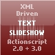 XML Driven Text Slideshow - ActiveDen Item for Sale