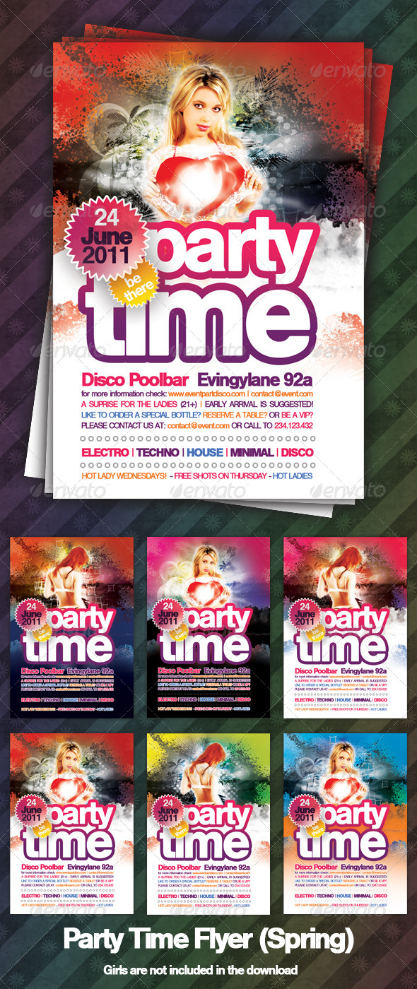 GraphicRiver Party Time Flyer Spring 301795