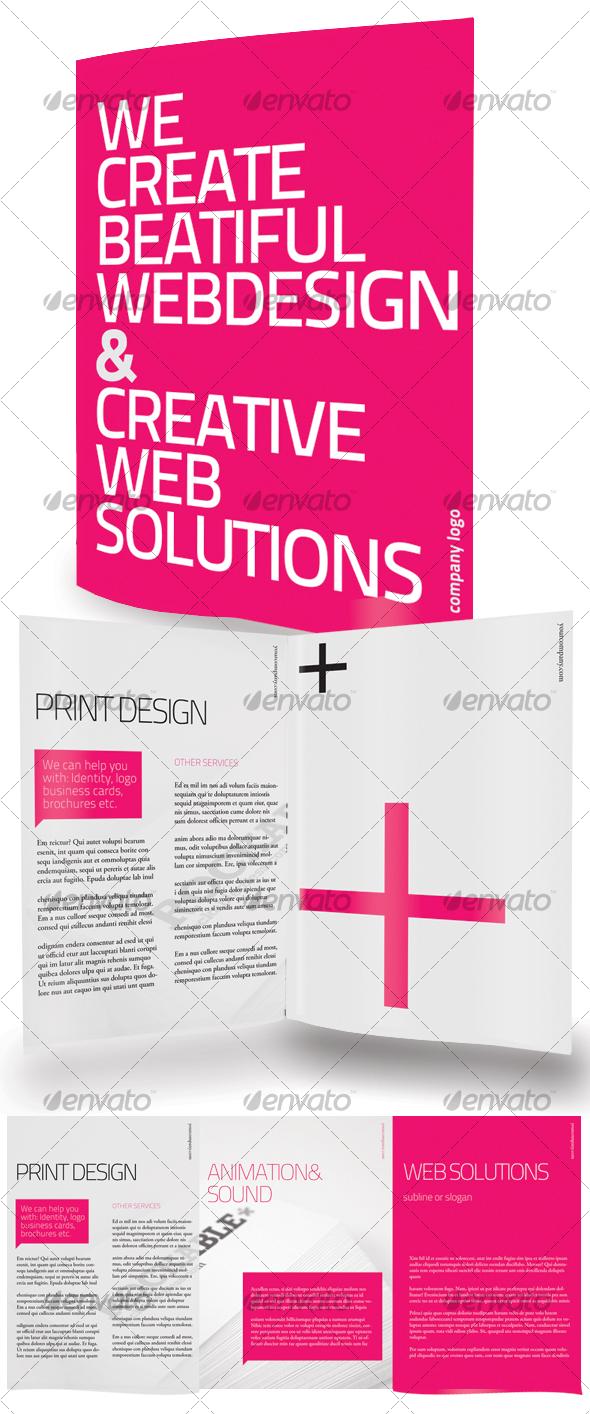 GraphicRiver Clean Tri Fold Brochure 100363