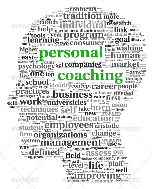 Personal coaching in tag cloud - Stock Photo - Images