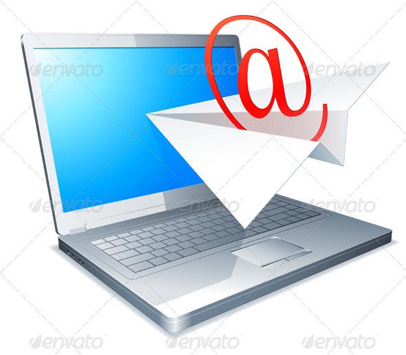 Sending E-mail Concept