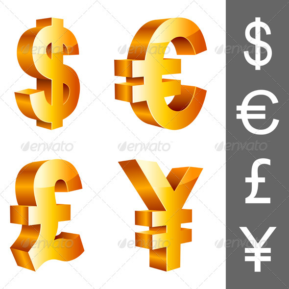 Currency Symbols - Business Conceptual