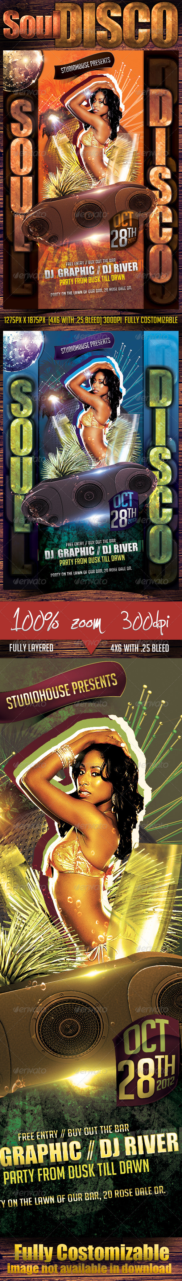 GraphicRiver Soul Disco Party Flyer 2780569