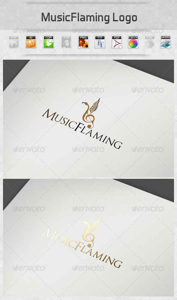 GraphicRiver MusicFlaming Logo 2791026