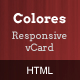 Colores - Responsive HTML5 vCard - ThemeForest Item for Sale