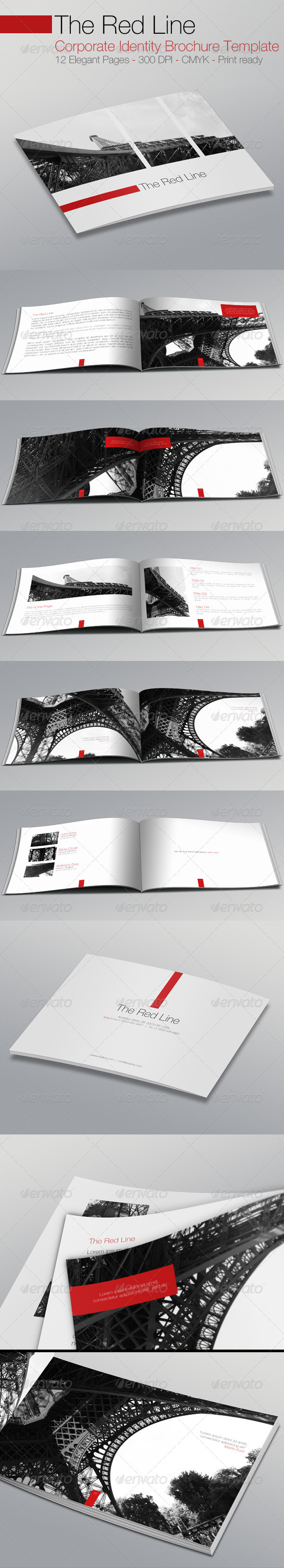 The Red Line Brochure Corporate Identity Template - Corporate Brochures