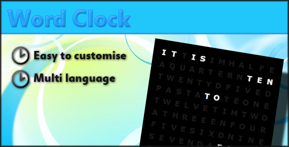 CodeCanyon Word Clock 2791186