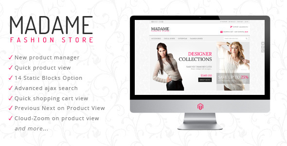 ThemeForest Madame Fashion Store Magento Theme 2791232