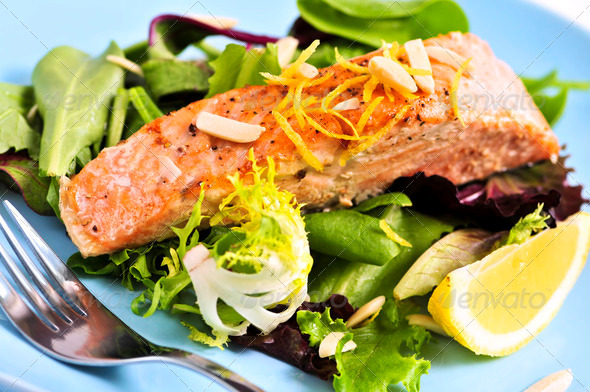 Stock Photo - PhotoDune Salad With Grilled Salmon 203235