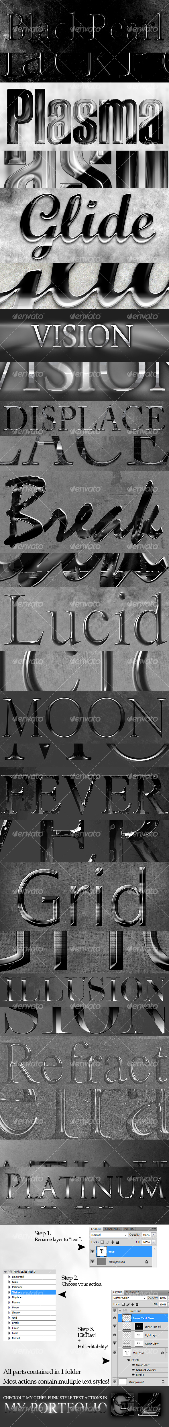 GraphicRiver Funk Text Style Actions Pack 3 95536