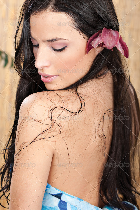 wet woman - Stock Photo - Images