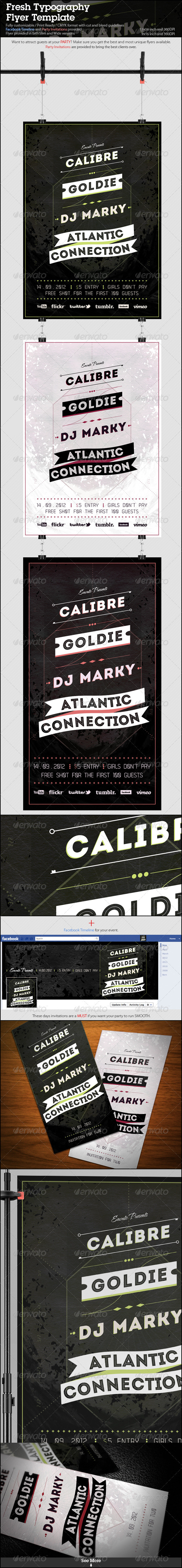 GraphicRiver Fresh Typography Flyer Template 2792600