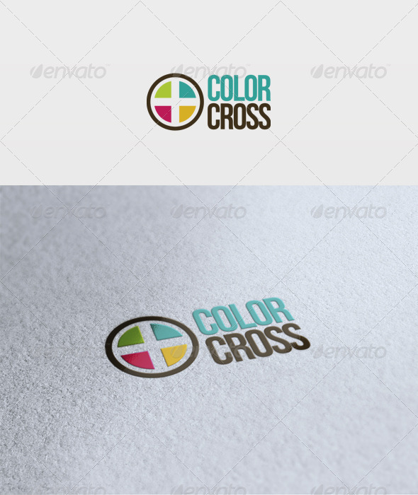 Color Cross Logo - Vector Abstract