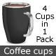 Vector Coffee Cups - GraphicRiver Item for Sale