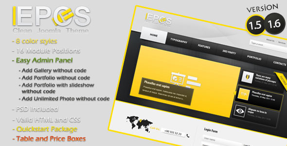 L-Epos Clean Joomla 1.5 Theme - 1_presentation