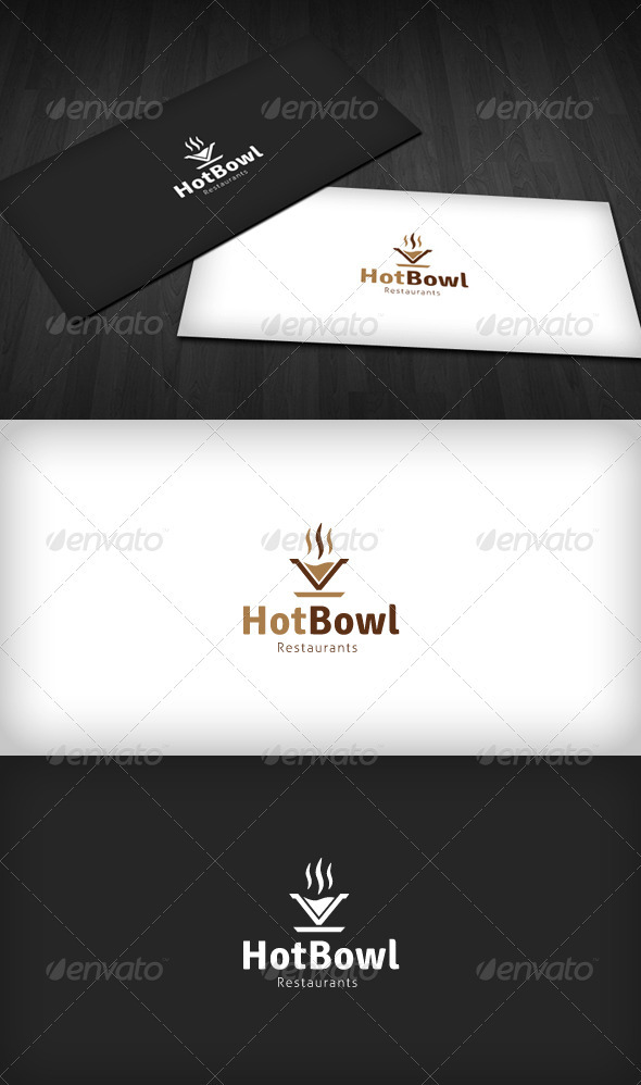 Hot Bowl Logo - Objects Logo Templates
