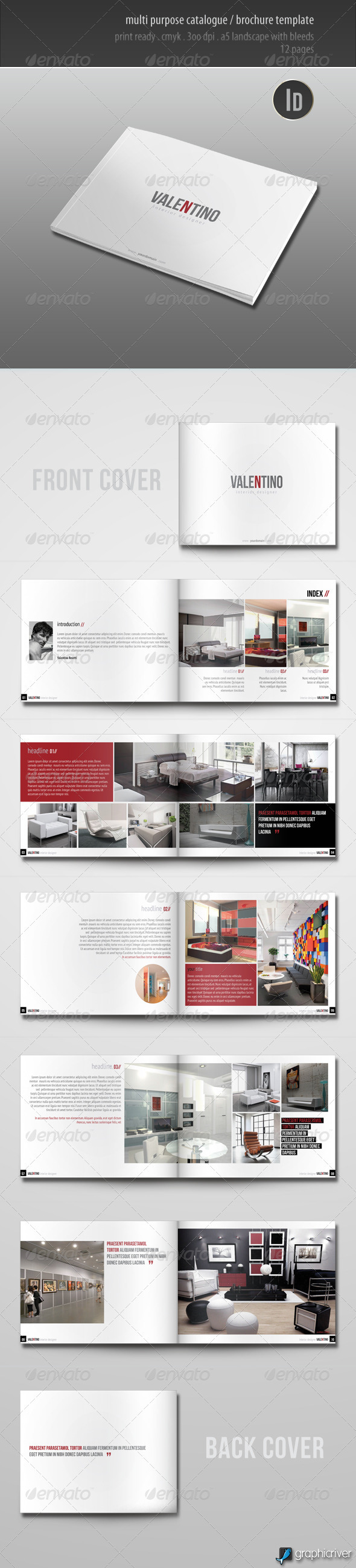 GraphicRiver Multi Purpose Catalogue Brochure Template 2793099