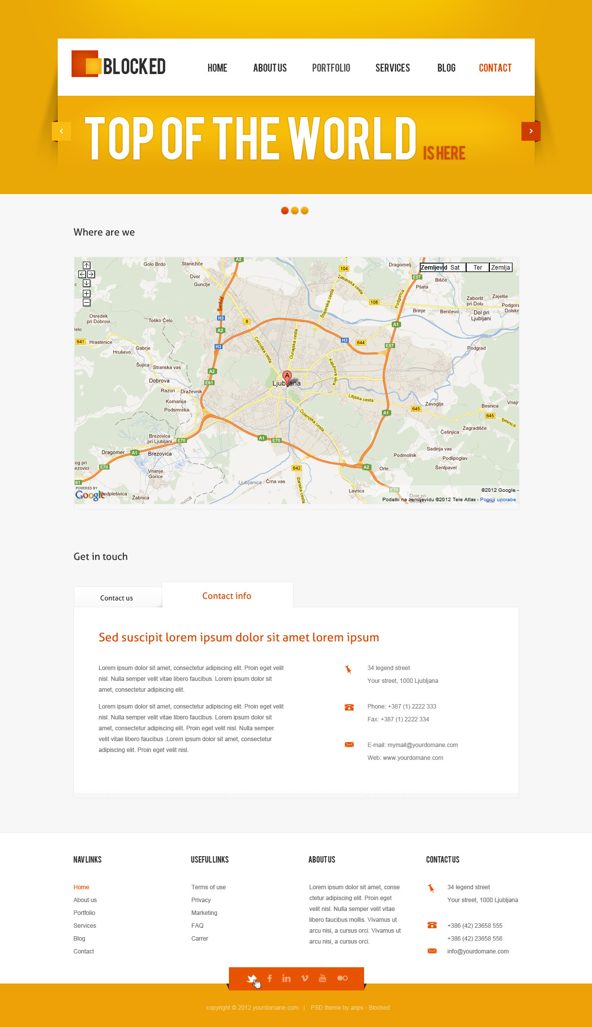 Blocked - Business HTML5 / CSS3 Template