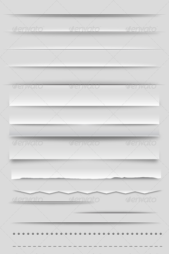 GraphicRiver Web Dividers and Shadows 2793651