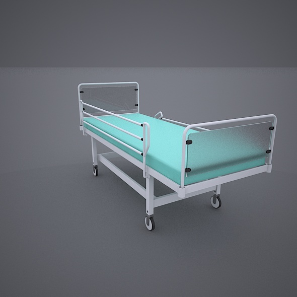 Hospital Wheeled Bed - 3DOcean Item for Sale