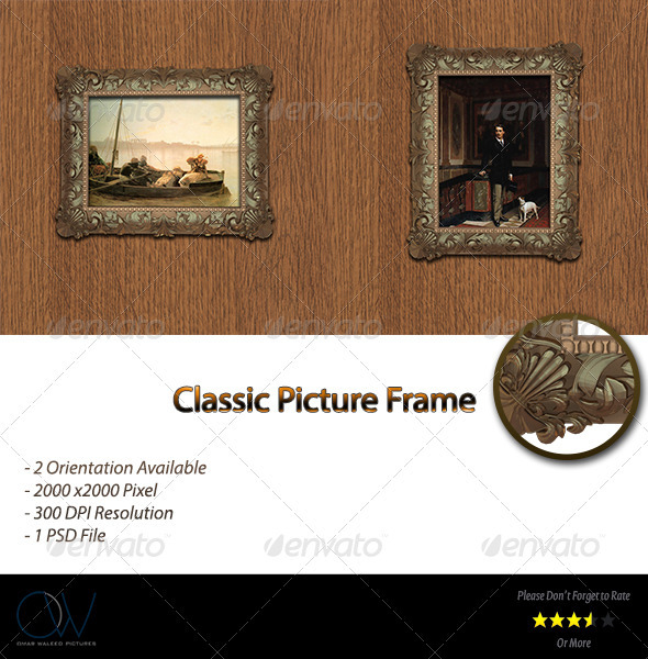 Classic Picture Frame - Photo Templates Graphics