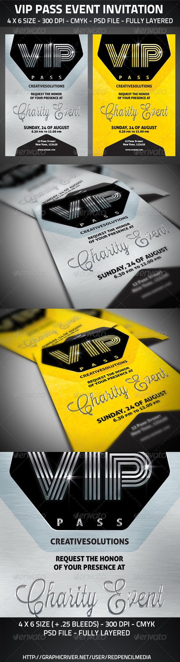 GraphicRiver VIP Pass Event Invitation 2794003