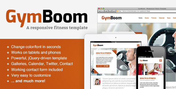 ThemeForest GymBoom A Responsive Fitness Gym Template 2794938