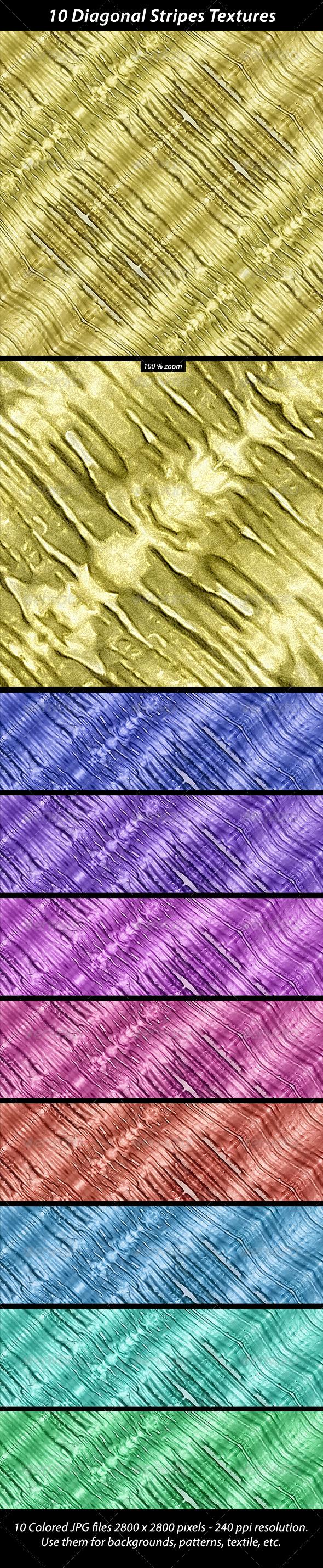 10 Diagonal StripesTextures - Abstract Textures