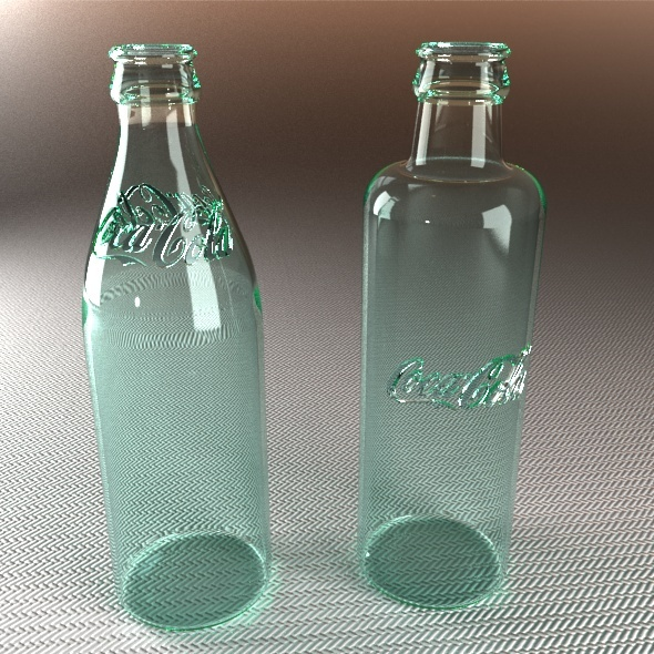 3DOcean Historical Coca Cola Bottles Years 1899 and 1900 2795208