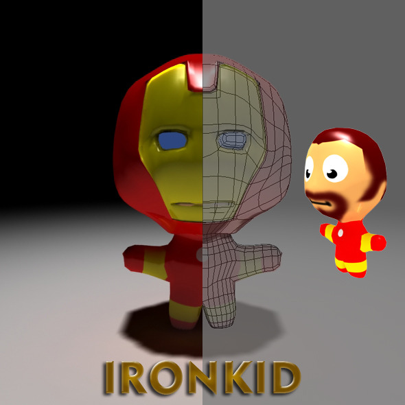 3DOcean Ironkid Cartoon 2795585