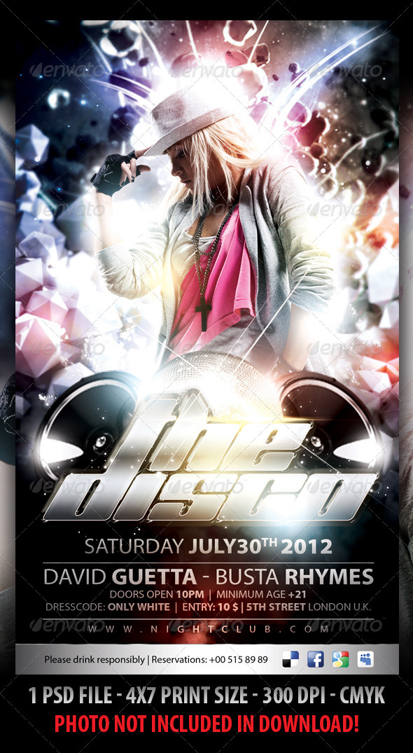 Disco Night Party Flyer - Events Flyers