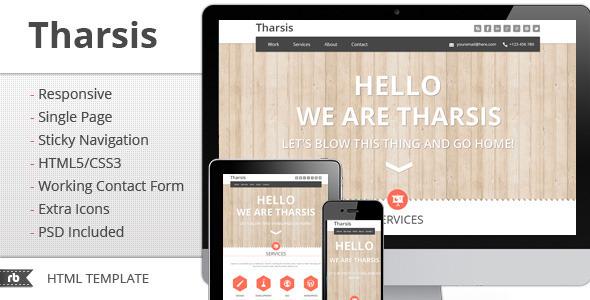 ThemeForest Tharsis Responsive Portfolio Template 2795942