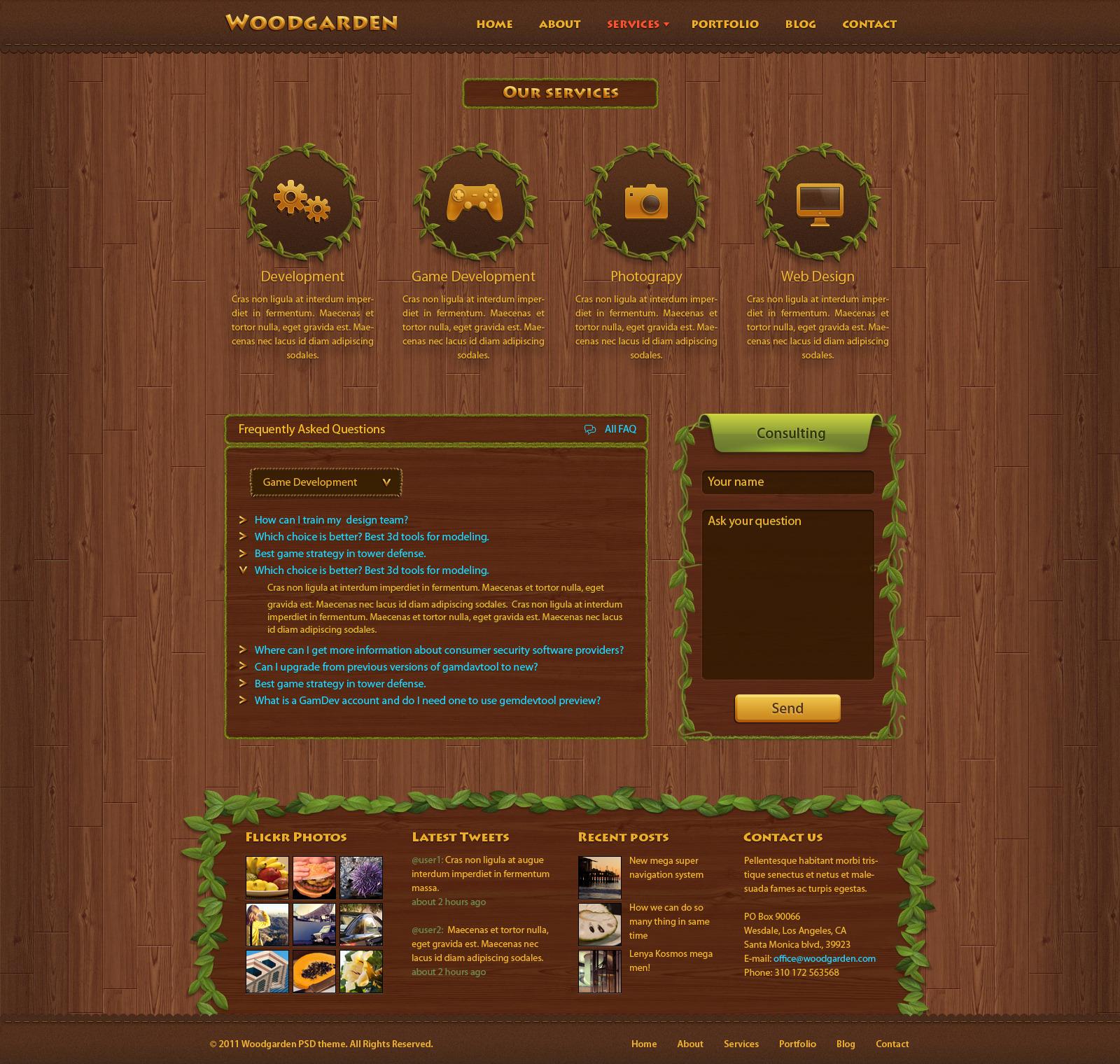 Woodgarden - Creative PSD Template