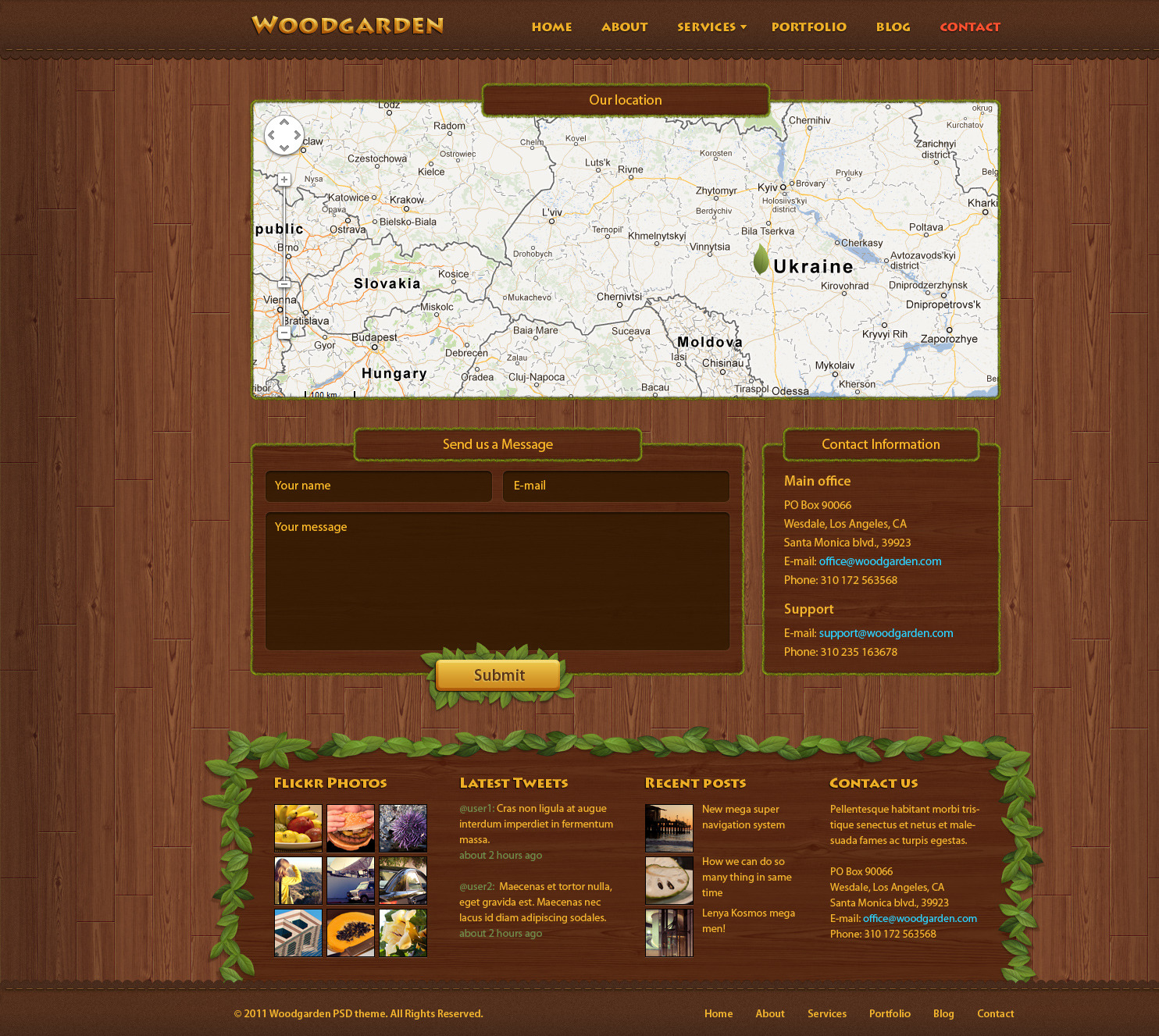 Woodgarden - Creative PSD Template