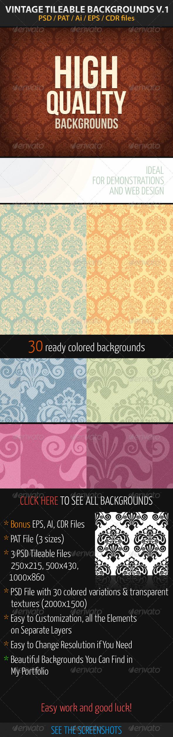 GraphicRiver Vintage Tileable Backgrounds v1 2795945