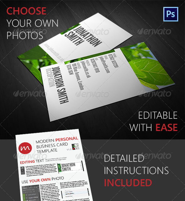 GraphicRiver Beautiful Modern Personal Business Card 2778618