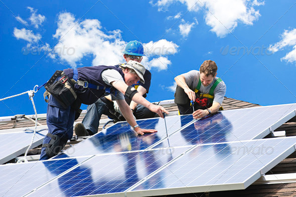 PhotoDune Solar Panel Installation 204483