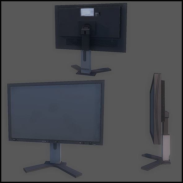 Flat Screen Monitor - 3DOcean Item for Sale