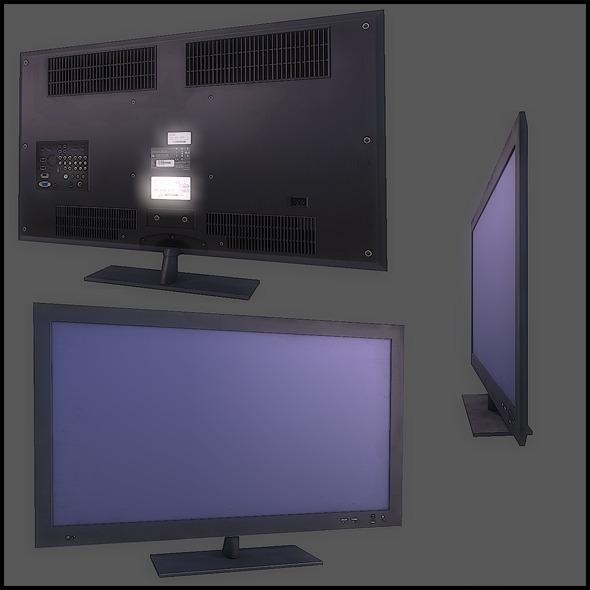 3DOcean LCD Flat TV 2796018