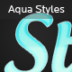 6 Aqua Text Layer Styles - GraphicRiver Item for Sale