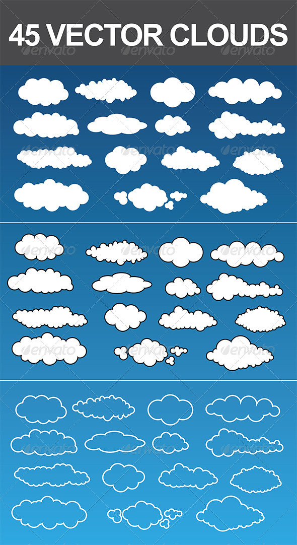 45 Vector Clouds - Nature Conceptual