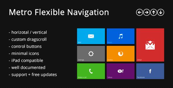 CodeCanyon Metro Flexible Navigation 2796746