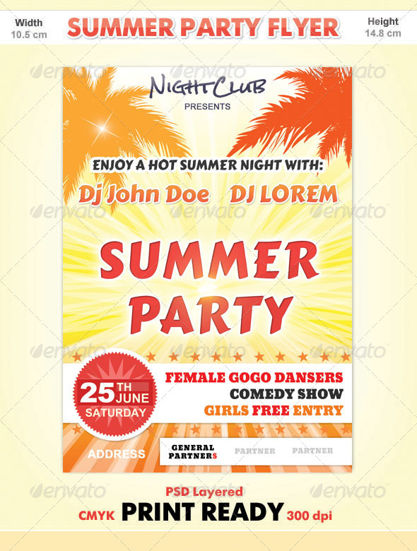 GraphicRiver Summer Party Flyer 301942