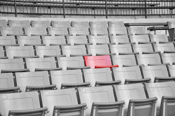 A field of empty seats - Stock Photo - Images