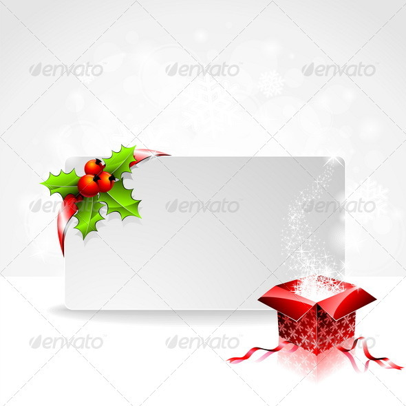 Vector holiday illustration on a Christmas theme. - Christmas Seasons/Holidays