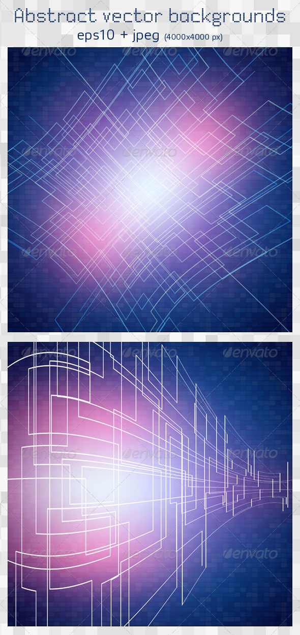 2 Abstract Vector Backgrounds